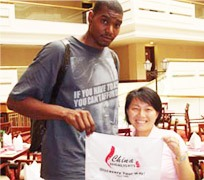 Andrew Bynum in Guilin
