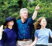 President Clinton and his family visited Guilin
