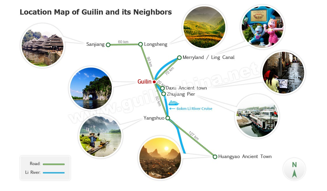 Guilin Travel Guide Map
